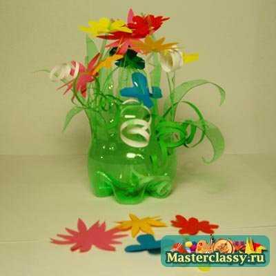 Пластиковые бутылки поделки для сада