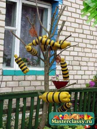 Пластиковые поделки для сада забор