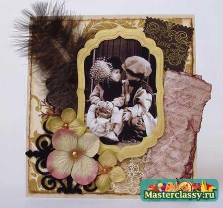 Скрапбукинг открытки с Днем Рождения
