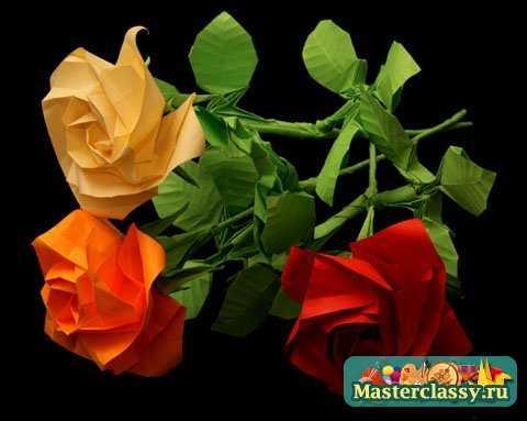 Оригами из бумаги Схемы цветов Master classy - мастер классы для вас.