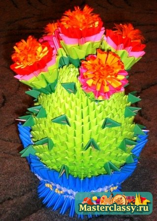 модульное оригами ваза с