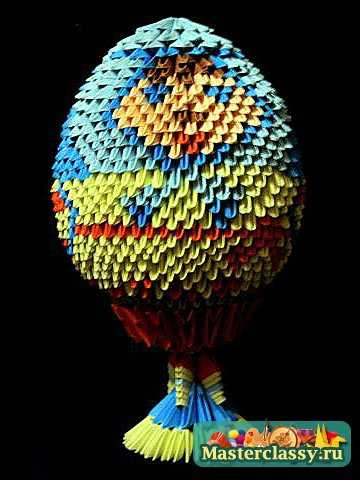 Модульное оригами. Яйцо