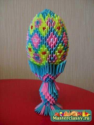 Схема оригами из модулей павлин