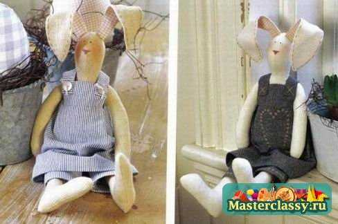 Куклы зайцы тильда своими руками выкройки