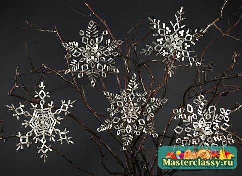 Снежинки из бисера. Плетение