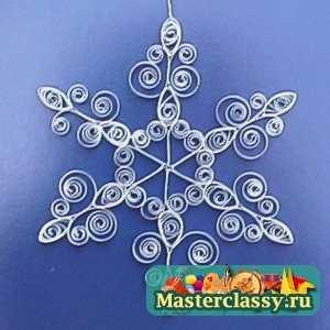 Новогодние снежинки из макаронных изделий своими руками