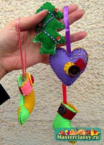 Ёлочные игрушки своими руками