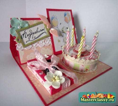 Как оформить открытку на день рождения своими