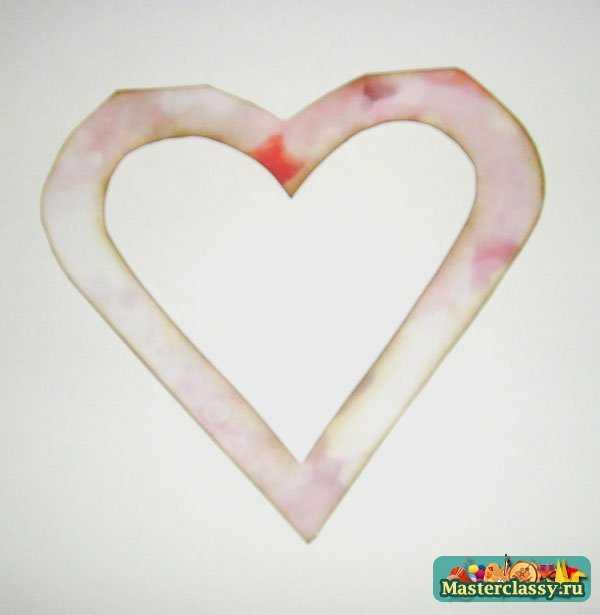Свадебная открытка своими руками с сердечками6