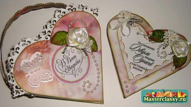 Свадебная открытка-сердце своими руками