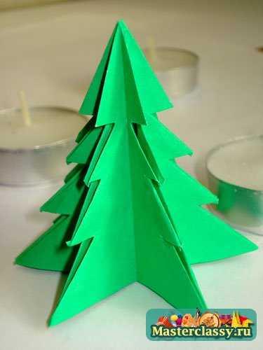 Елочка оригами  мастер класс