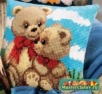 Мишка Тедди. Вышивка. «