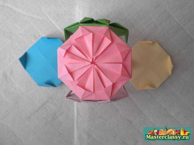 схемы оригами из треугольных модулей.
