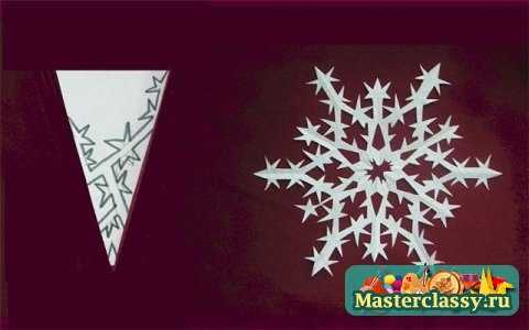 Схемы вязания снежинок.