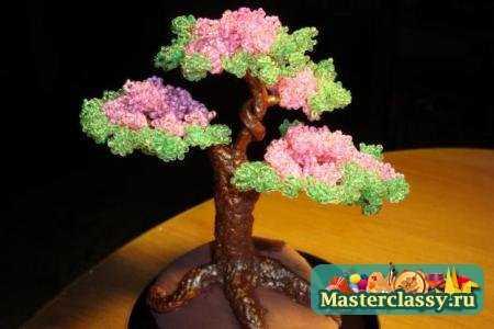 """""""Часть 1. к любому празднику.  Плетение деревьев из бисера - работа довольно трудоемкая, но интересная."""