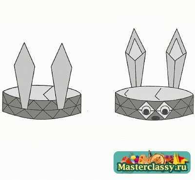 Оригами схема Заяц