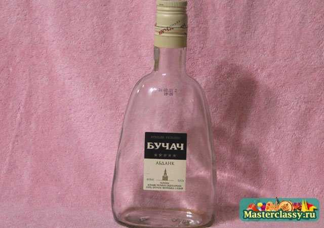 Декупаж бутылки. Сосуд для вина