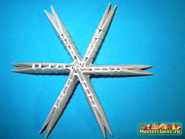 Модульное оригами снежинка Мастер-класс.