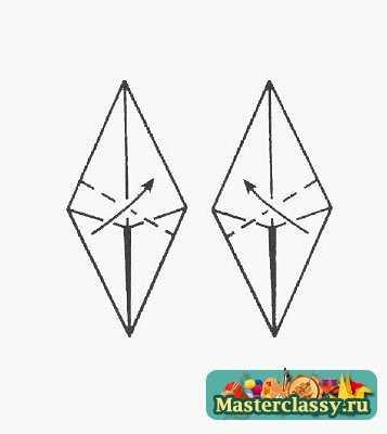 """Оригами  """"Ежик """" для малышей - неплохой пример для обучения.  Ведь начинать следует с обычных поделок: оригами..."""