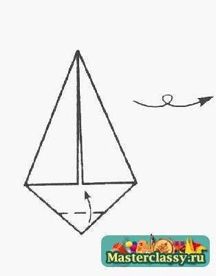 """Оригами  """"Ежик """" для детей - хороший пример для обучения.  Ведь начинать следует с простых поделок. оригами - снежинка..."""