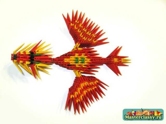 Дракон с крыльями.  Модульное оригами.  Мастер-класс.
