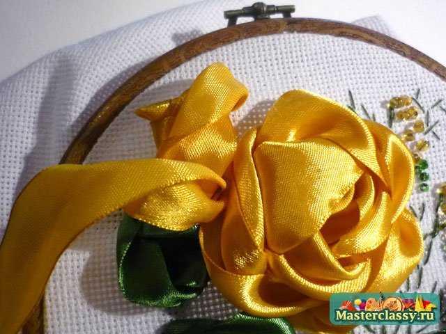 Желтые розы. Мастер класс