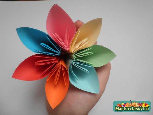 оригами кусудама из цветов