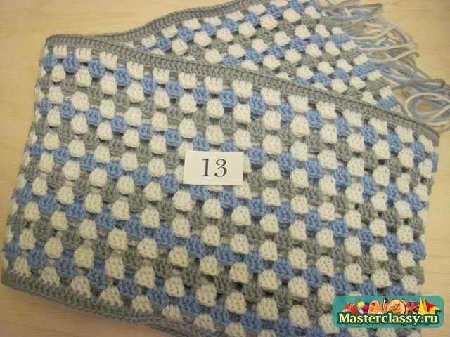Вязание шарфа шахмотной