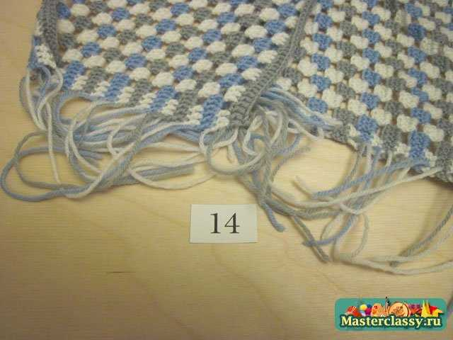 Мастер-класс вязаный шарф женский.