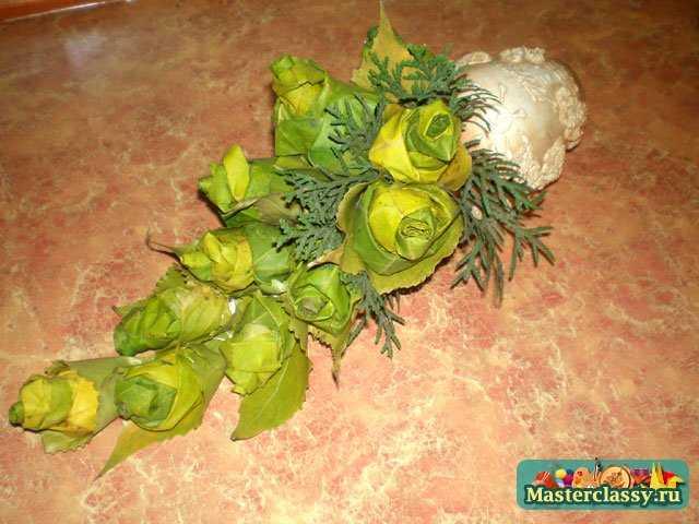 Поделка букет из листьев // Детский мир