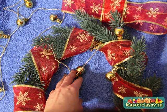 Рождественский венок своими руками