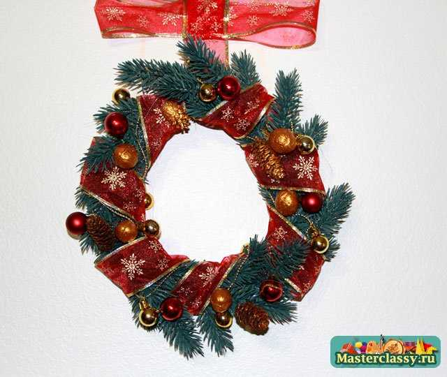 Рождественский венок. Мастер класс