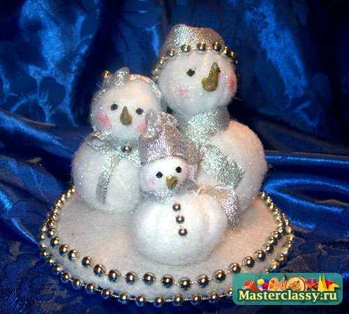 Игрушки своими руками на Новый год. Снеговик