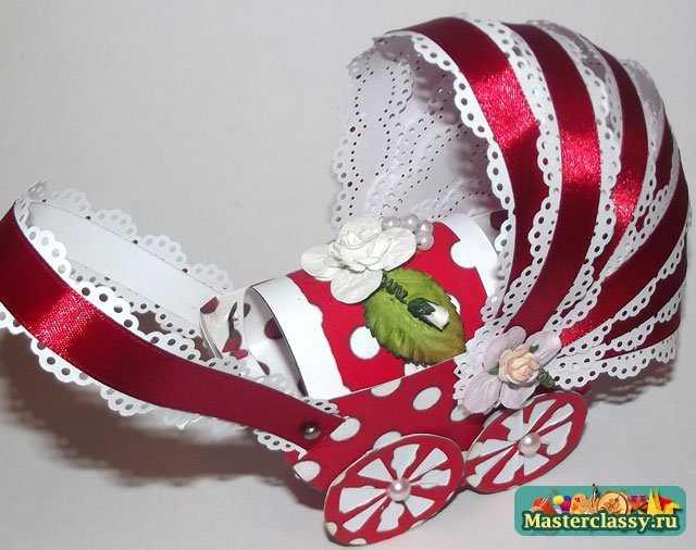 Скрапбукинг коляска для девочки