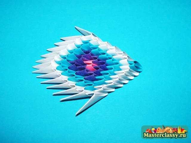 Модульное оригами.  Павлин.  Мастер-класс.  Перья павлина.