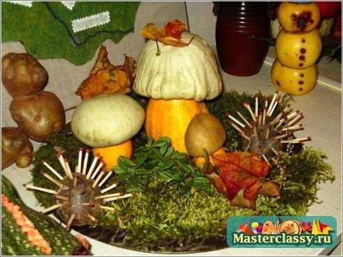 А из собранных фруктов и овощей