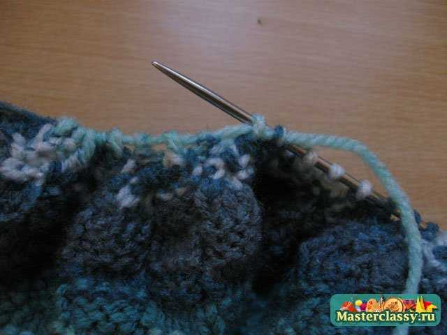 вязание беретов крючком на осинке.