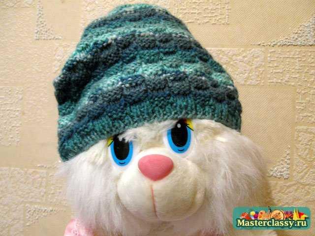 вязаные шапочки спицами на осень для девочек.
