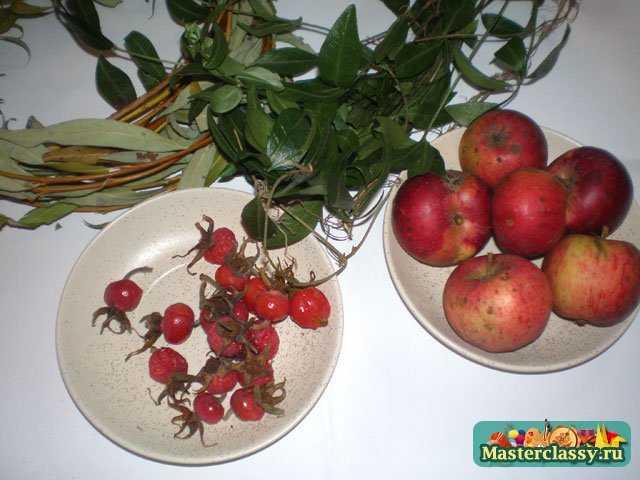 Поделки из фруктов. Яблочный венок. Мастер класс