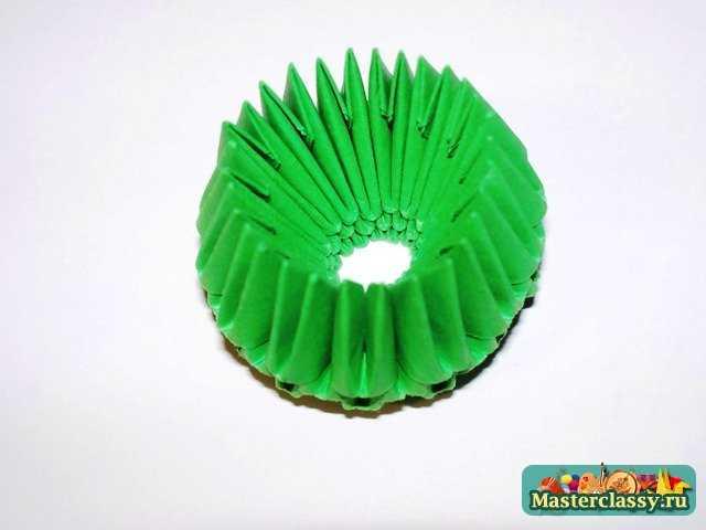 Модульное оригами Ваза оригами Схема ваза Мастер-класс.