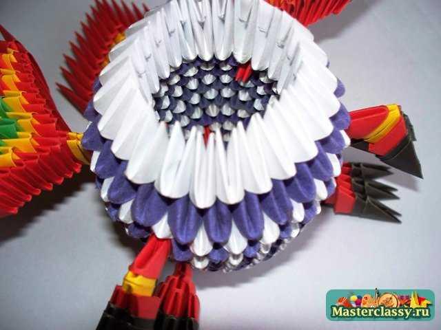 Модульное оригами.  Дракон в тельняшке.  Мастер-класс.