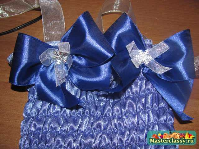 Как сшить платье из атласной ленты 125
