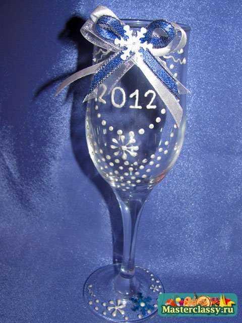 новогодние бокалы своими руками