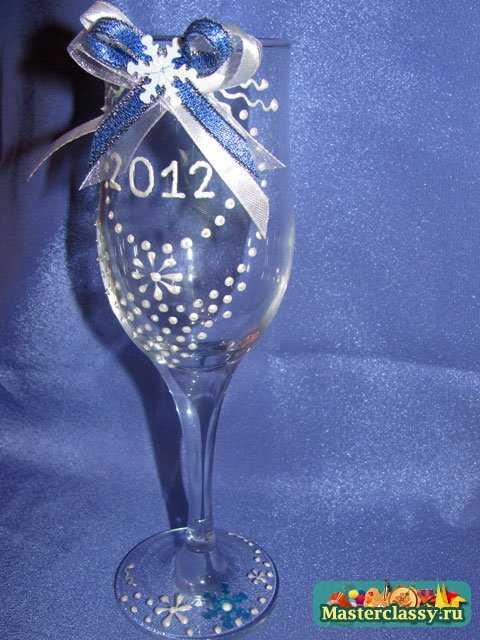 новогодние бокалы ручной работы