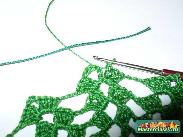 Вязание крючком. Салфетка Ёлочка