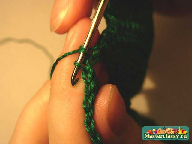 Вязание крючком.  Салфетка Ёлочка.