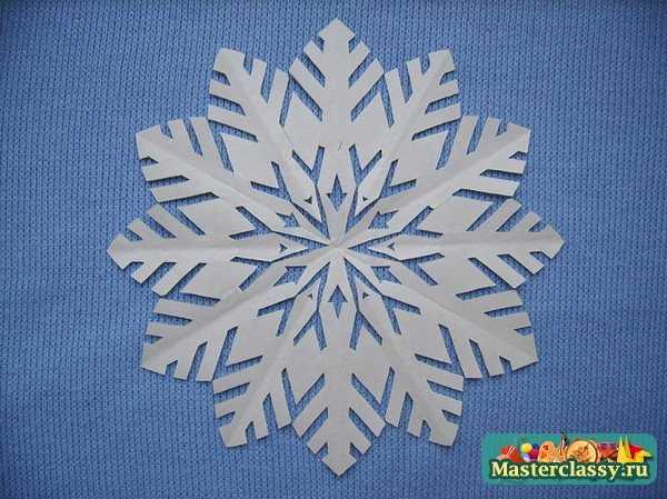 Как сделать из бумаги а 4 снежинку из бумаги