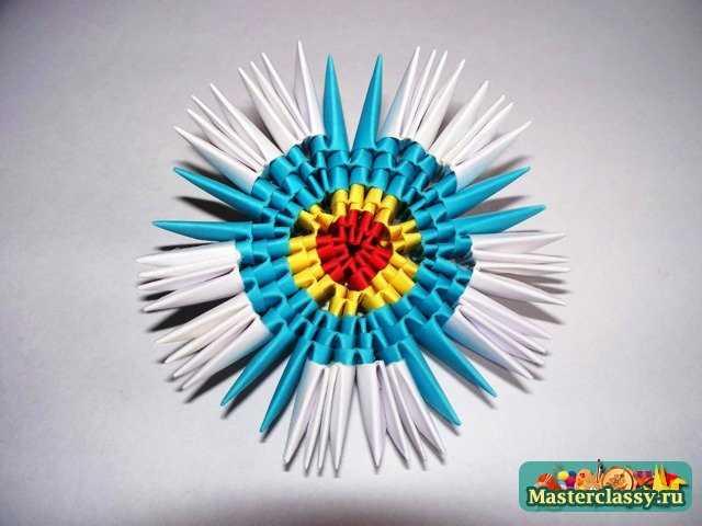 Сборка модульного яйца.  Модульное оригами.  Яйцо.  Мастер-класс.