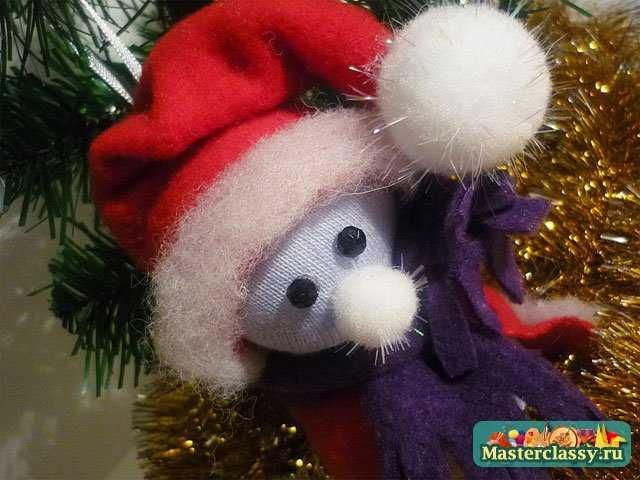 Ёлочные игрушки своими руками.  Снеговик.