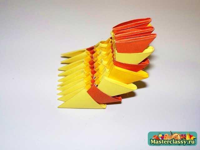 Модульное оригами.  Рыбка.  Мастер-класс.  Основная сборка Рыбки.